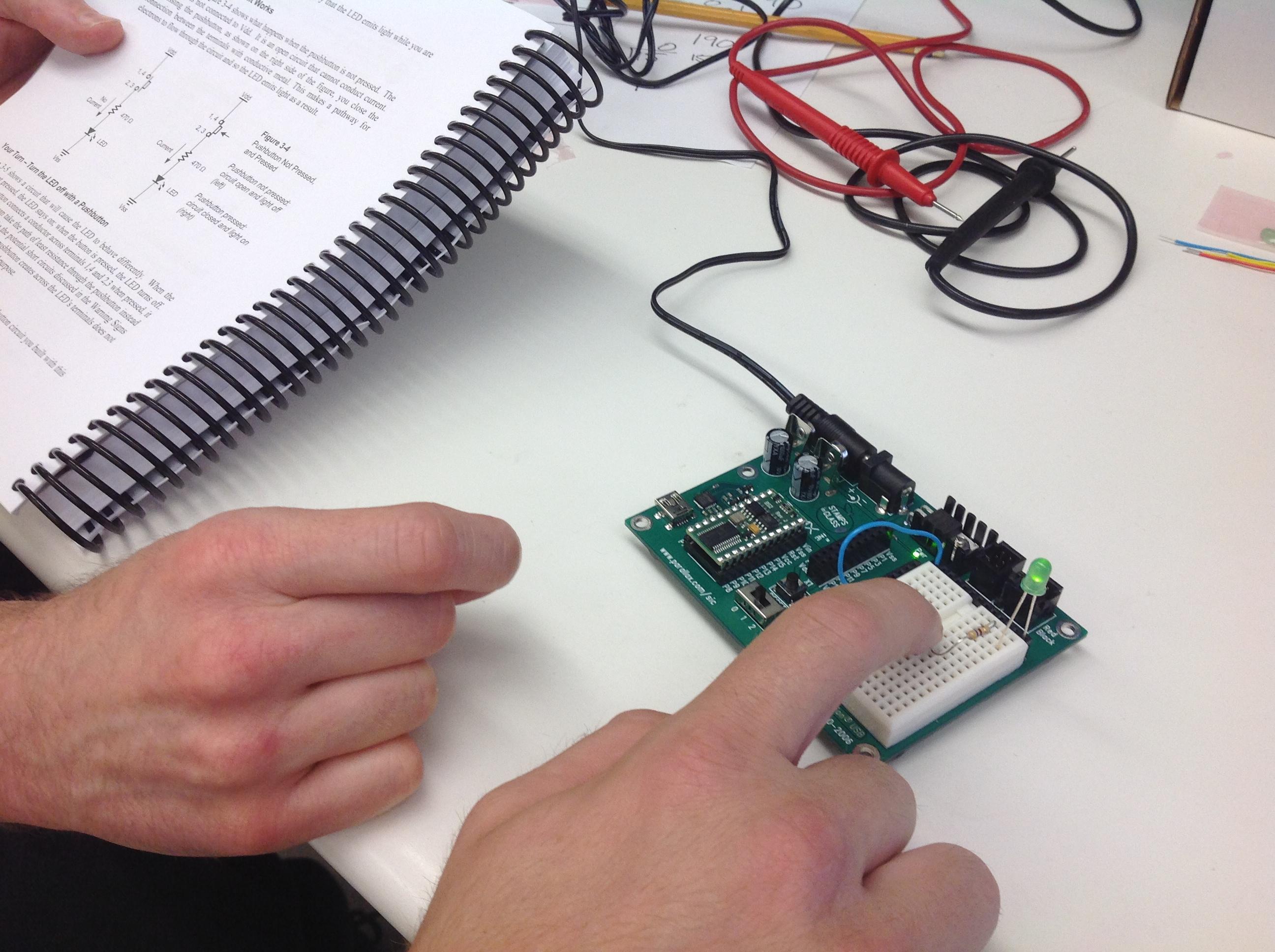 Smarter 2014 Updates Figure 2 Pushbutton Closed Circuit Current Flows Image Description