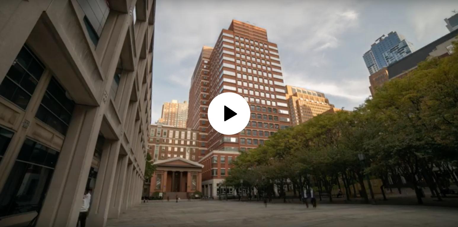 video still displaying campus