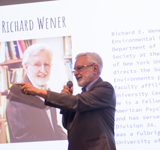 Professor Rich Wener helped organize and host the event