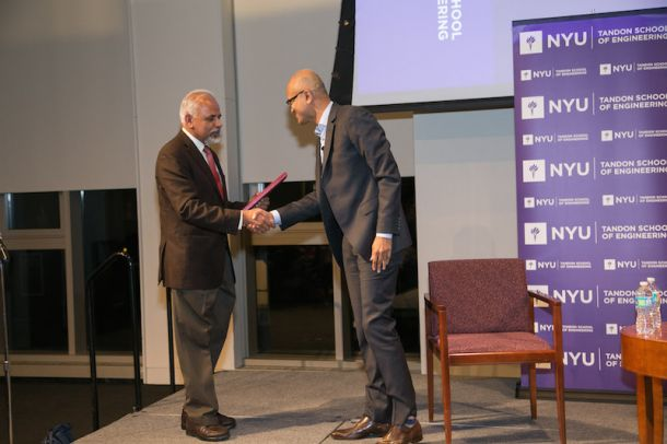 Dean Sreenivasan, wanting to give Nadella a gift for his visit, noted that the CEO adhered to the Silicon Valley trend of casually wearing his shirt with an open collar and presented him with the one thing he obviously didn't own: an NYU necktie.