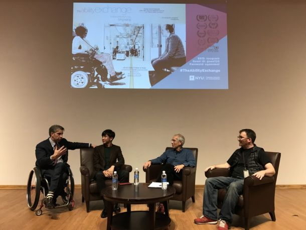 Goldstein (second from right) participated in a panel discussion following a screening of the documentary featuring his transformational disabilities course