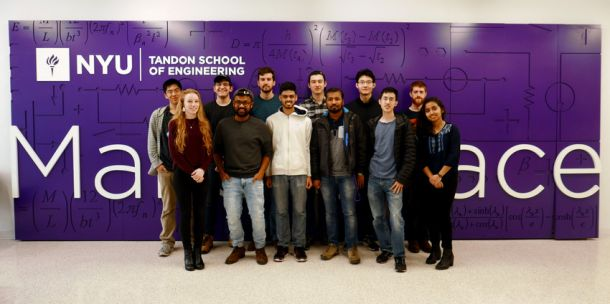 The NYU Robotics Design Team are composed of students from a wide variety of engineering disciplines.