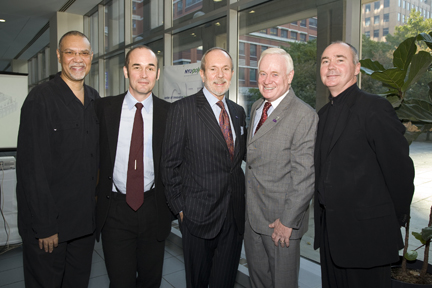 NYU-Poly President, Senator Golden and others gathered at the CITE ribbon cutting ceremony