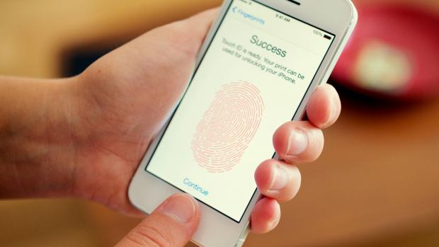 smartphone being unlocked with fingerprint