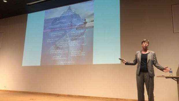 Elizabeth L. Hillman on stage