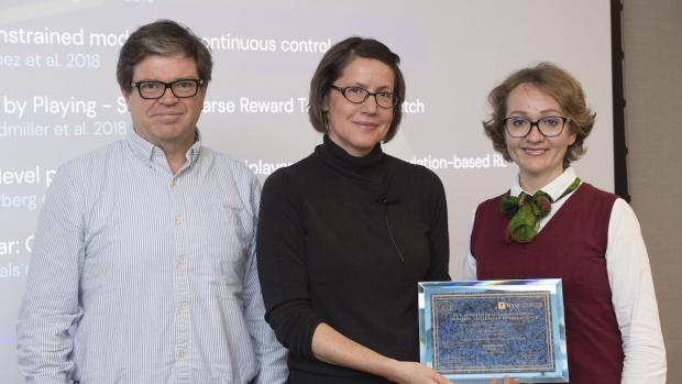 Yann LeCun with Raia Hadsell and Anna Choromanska