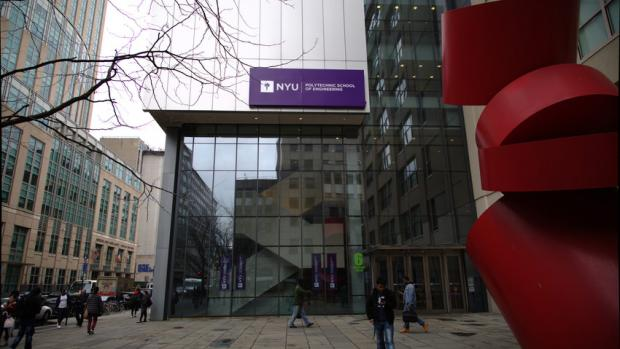 Front entrance of NYU Tandon School of Engineering