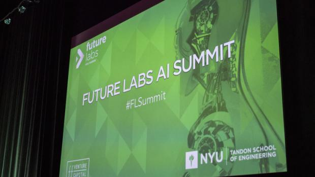 Future Labs AI Summit screen presentation