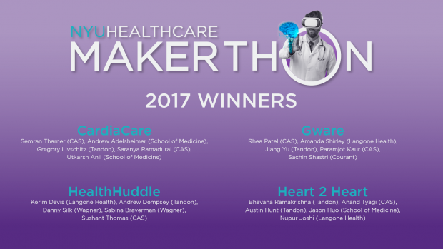 nyu healthcare makerthon 2017