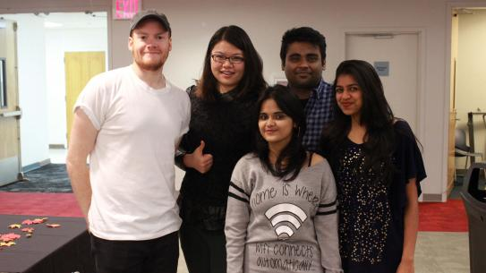 group of international student board members