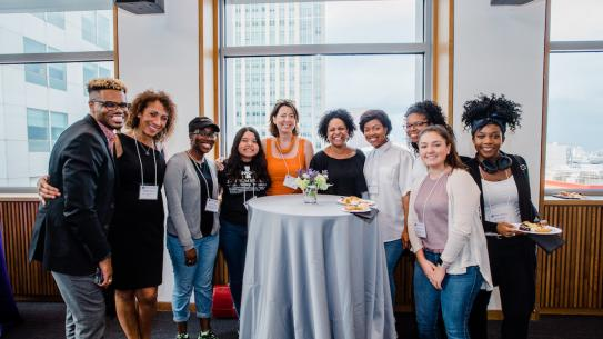 Dean Jelena Kovačević with students at diversity event