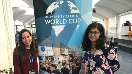 Sunthetics team at university start-up world cup