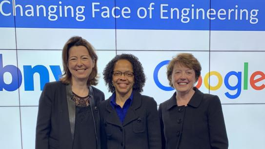 three female engineering deans