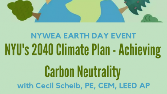 NYWEA Earth Day Event poster