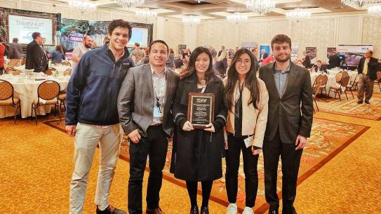 NYU-ITE with its Student Chapter Achievement Award
