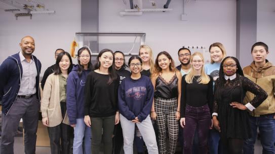 Lab group with mostly women