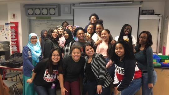 Serena Monique Jones and UAI AP Biology class.