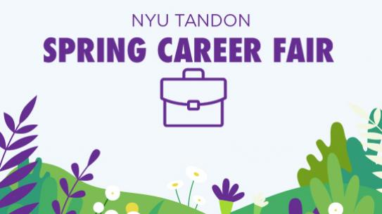Tandon Career Fair poster