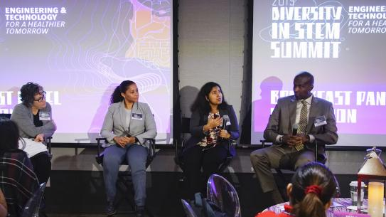 panel speakers at Diversity in STEM summit
