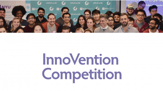 InnoVention logo with student competitors in the background