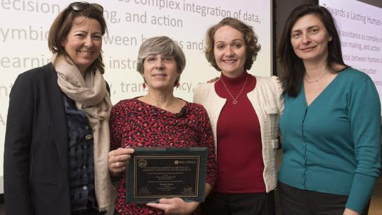 Anna Choromanska poses with colleagues at one of last year's seminars.