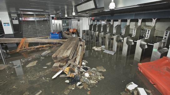 flood during hurricane sandy
