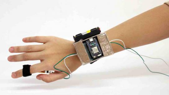 digital device attached to wrist