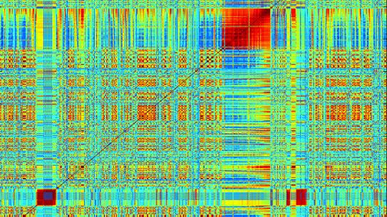 Visualization of medical data in a grid formation.