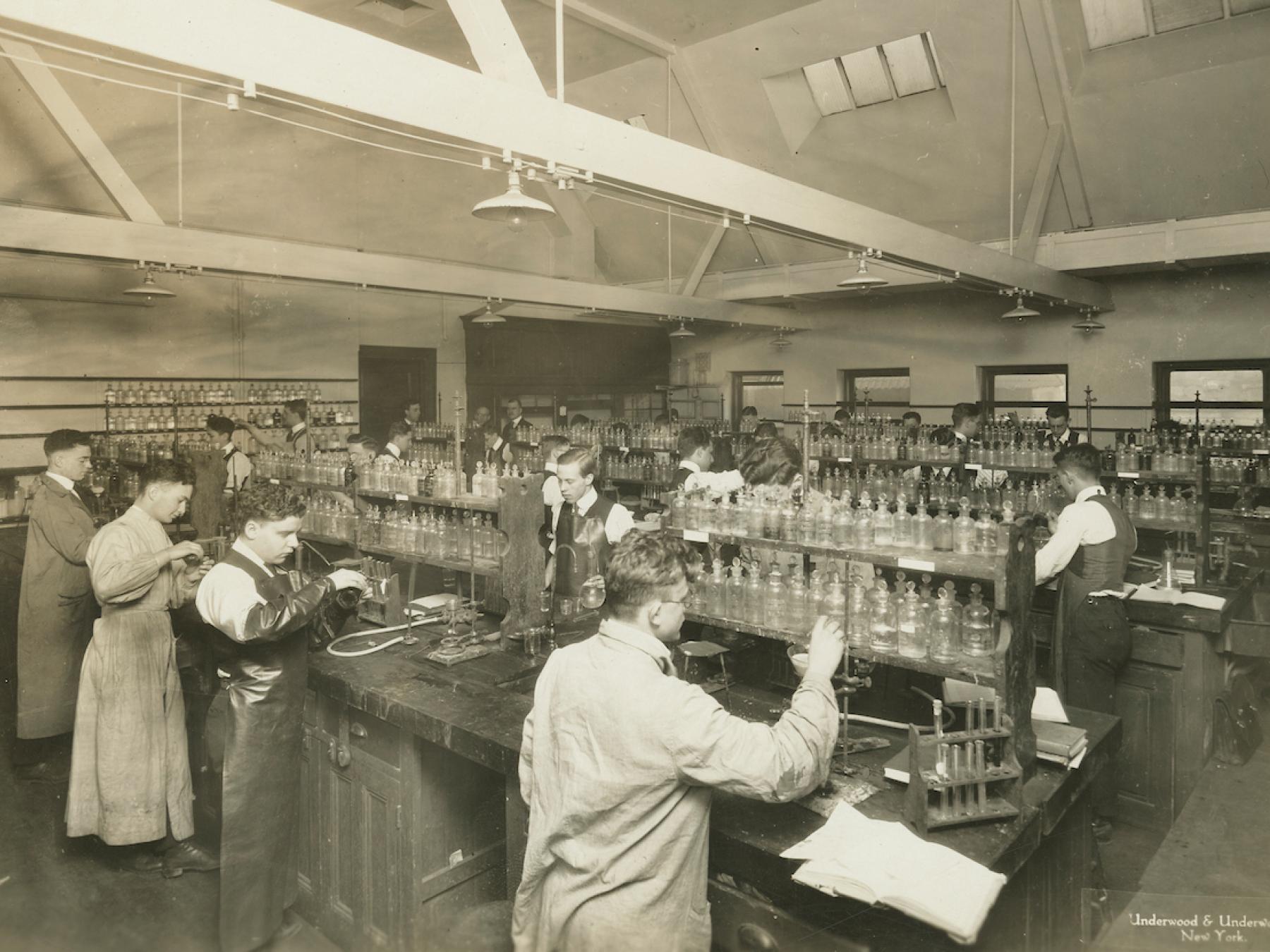 archival photo of chem lab