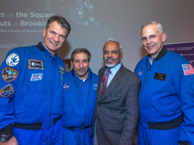 Alum Astronauts with the Dean