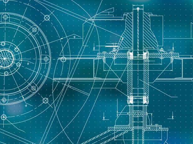 mechanical drawing blueprint