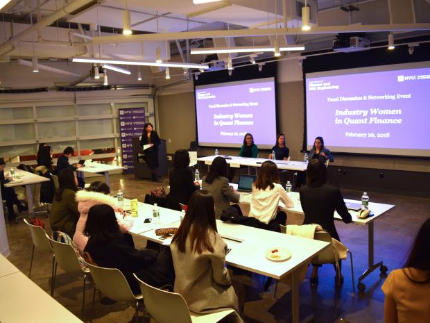 Photo of Industry Women in Quant Finance event.
