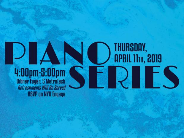 Image Description: Event flyer for April 2019 Piano Series