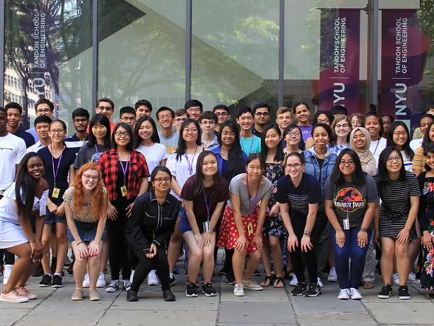 group photo of the ARISE 2018 class outside of 6 Metrotech