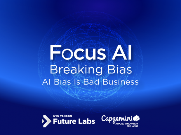 Focus AI blue banner with Future Labs and Capgemini logos