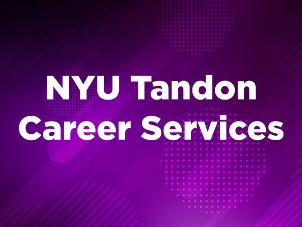 NYU Tandon Career Services graphic