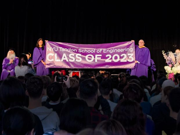 Photo of Student Council President with Class of 2023 banner