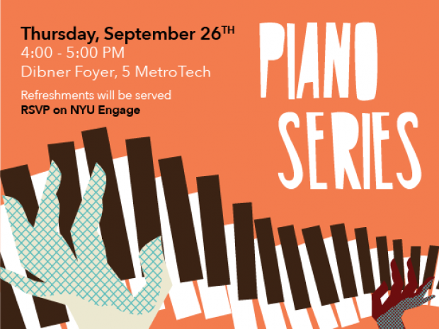 Event flyer for September 2019 Piano Series