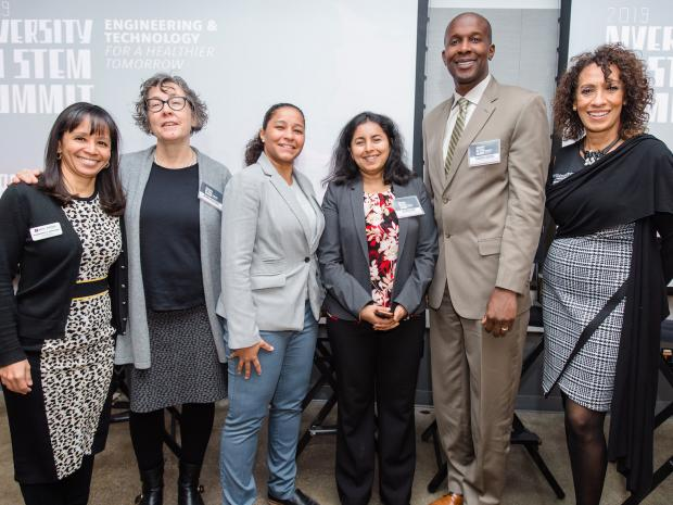 Members of Inclusion at Tandon Committee with speakers at diversity summit