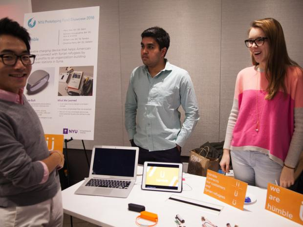 students at prototyping fund showcase