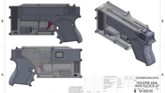 Schematics of smart gun