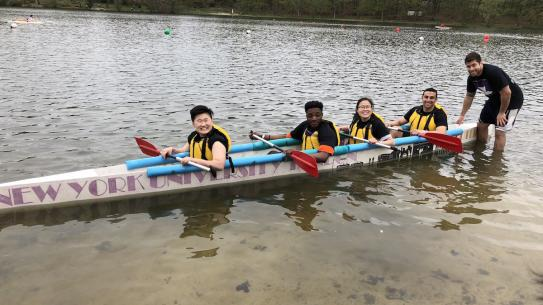 CUE Bridge Students Canoe