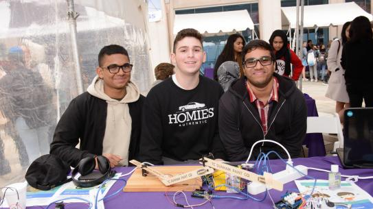 Students and mentors from the CrEST K-12 STEM Education program