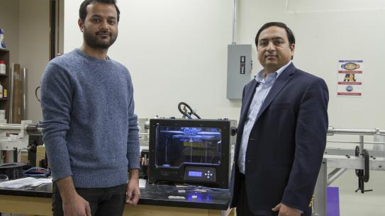 Singh and Gupta with 3D printer printing syntactic foam