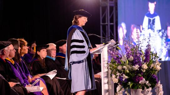 Dean Jelena Kovačević addresses the incoming class