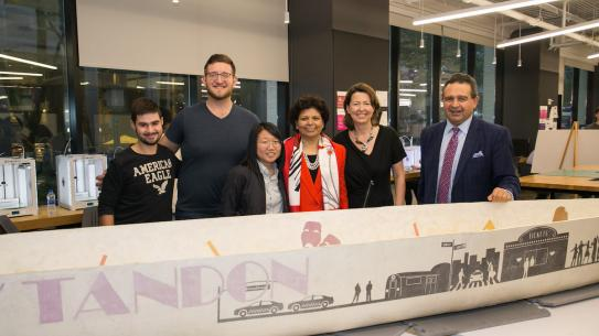 Concrete Canoe with Chandrika, Prof. Iskander and students