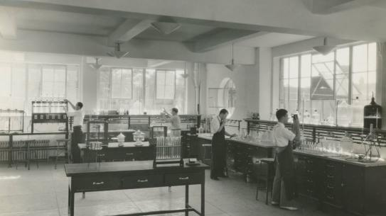 Photo of a lab at heights campus
