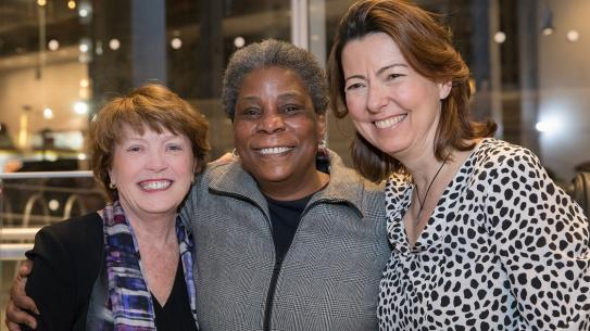 Dean Kovacevic, Ursala Burns, and Columbia Dean Boyce