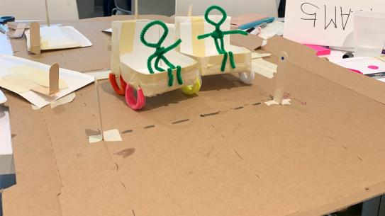 paper prototype of wheelchair