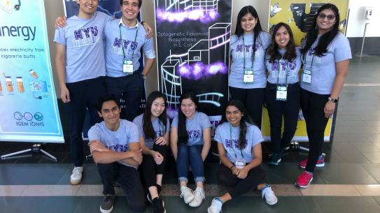 Students of iGEM at the annual iGEM competition